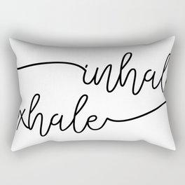 inhale exhale Rectangular Pillow