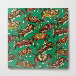 crabs green Metal Print