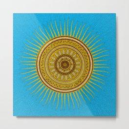 Tribal sun mosaic Metal Print