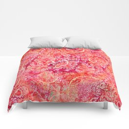 Abundance, Abstract Art Circles Grunge Comforters