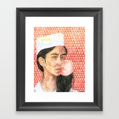 Bubblegum Girl Framed Art Print