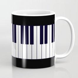Piano Keys - Black and white simple piano keys pattern minimalistic music themed artwork Coffee Mug