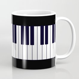 Piano Keys - Black and white simple piano keys pattern minimalistic music themed artwork Coffee Mug