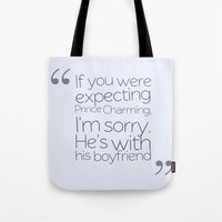 larry david Tote Bags featuring Larry by Directioner's Wardrobe