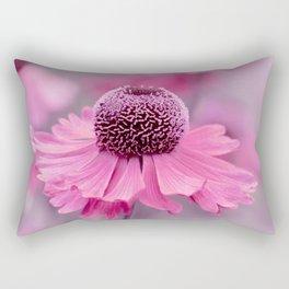 Pink flower macro 066 Rectangular Pillow