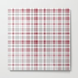 Bama crimson tide college state pattern print university of alabama varsity alumni gifts plaid Metal Print