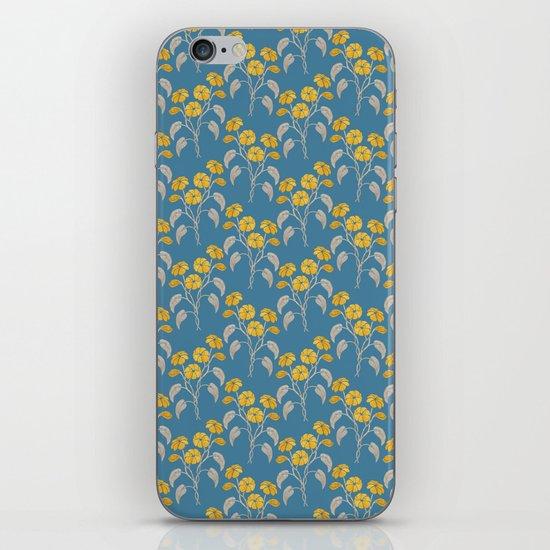 Flowers Blue Pattern iPhone & iPod Skin