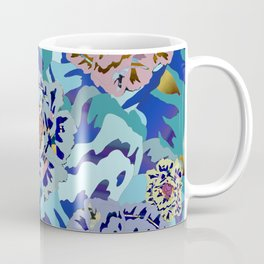 wood block WILD flowers Coffee Mug