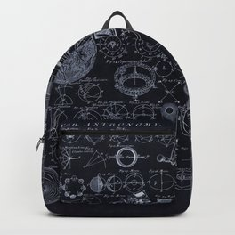 Astronomy Blueprint Diagrams Backpack