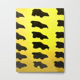 Wolf Skulls Metal Print