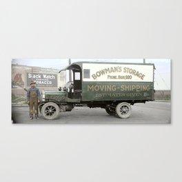Bowman's Storage Truck, Vancouver, BC c.1918 Canvas Print