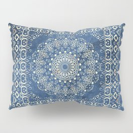 Old Bookshop Magic Mandala in Blue Pillow Sham