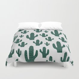 Cactus Crowd Duvet Cover