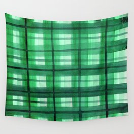 Evergreen Plaid Wall Tapestry