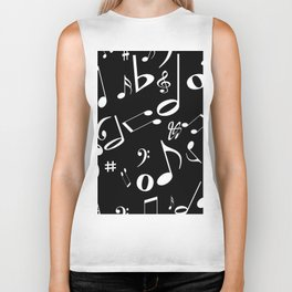 Music in the Air Black Biker Tank