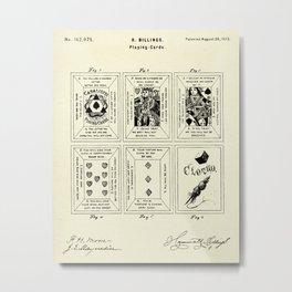 Playing Cards-1873 Metal Print