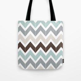 Seaside Chevron Tote Bag