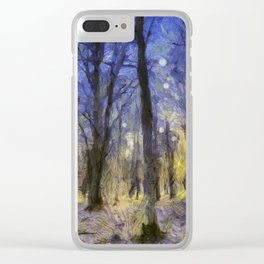 The Forest Van Gogh Clear iPhone Case