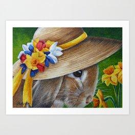 Bunnies in Bonnets No. 7 Art Print