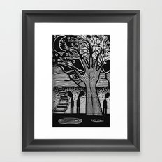 mysterious midnight Framed Art Print