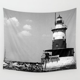 Robbins Reef Lighthouse Wall Tapestry