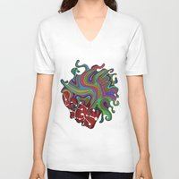 psychedelic V-neck T-shirts featuring Psychedelic   by Malsano