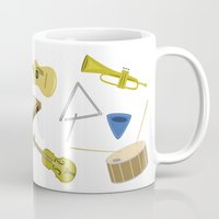 the mortal instruments Mugs featuring Music instruments by Divuxart
