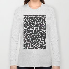 Leopard Black White Pattern Long Sleeve T-shirt