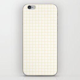 Small Diamonds - White and Cornsilk Yellow iPhone Skin