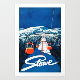 Stowe Ski Poster Art Print