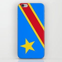 National flag of the Democratic Republic of the Congo, Authentic version (to scale and color) iPhone Skin
