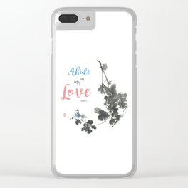Abide in my Love Clear iPhone Case