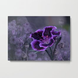 The Passion of Purple Metal Print