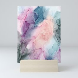 Dark and Pastel Ethereal- Original Fluid Art Painting Mini Art Print