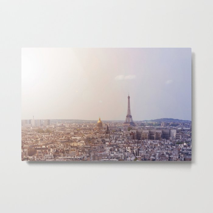 Cityscape of Paris, France. View of the Eiffel tower. Metal Print