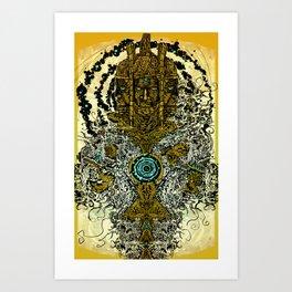 FUNKY TOTEM Art Print