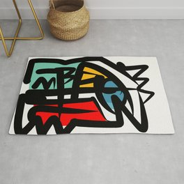 Street art abstract portrait pop Rug