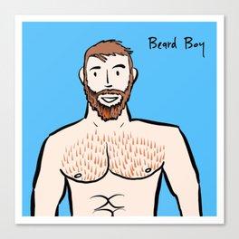 Beard Boy: Ginger Canvas Print