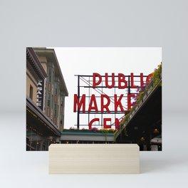 Public Market Sign Mini Art Print