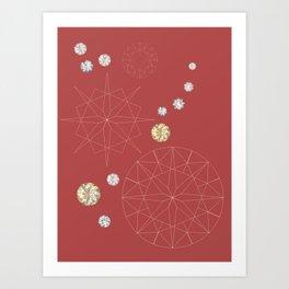 Diamonds for you Art Print