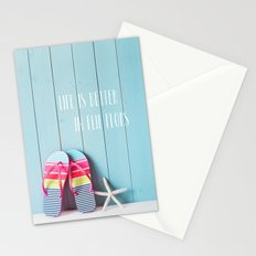 Life is Better in Flip Flops Stationery Cards