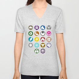 Pokémon Type Chart Unisex V-Neck