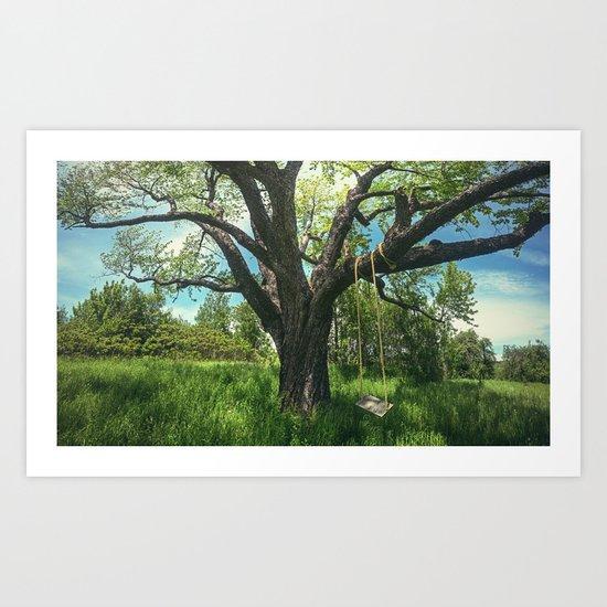 Swing the Summer Away Art Print