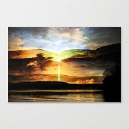 the eternal glory of rising sun Canvas Print