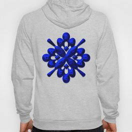 A202 Rich Blue and Black Abstract Design Hoody