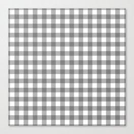 Plaid (gray/white) Canvas Print
