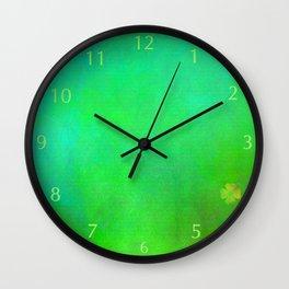Shamrock Field 01 Wall Clock
