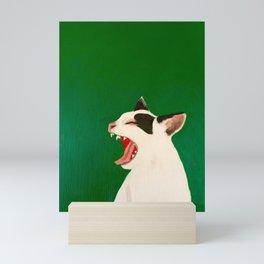 Hissing Cat Mini Art Print