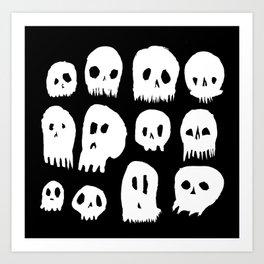 Spooky Skulls Art Print