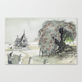Old Tree At The Witch House Canvas Print